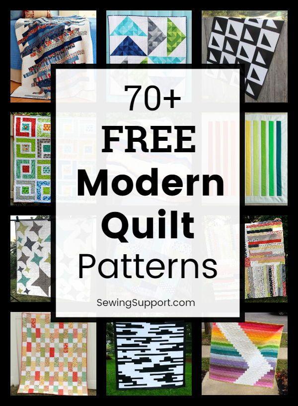 70+ Modern Quilt Patterns (Free)