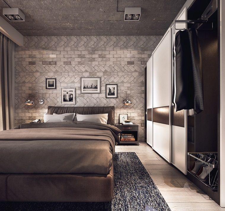 come-arredare-la-camera-da-letto-stile-industriale-parete-decorata ...