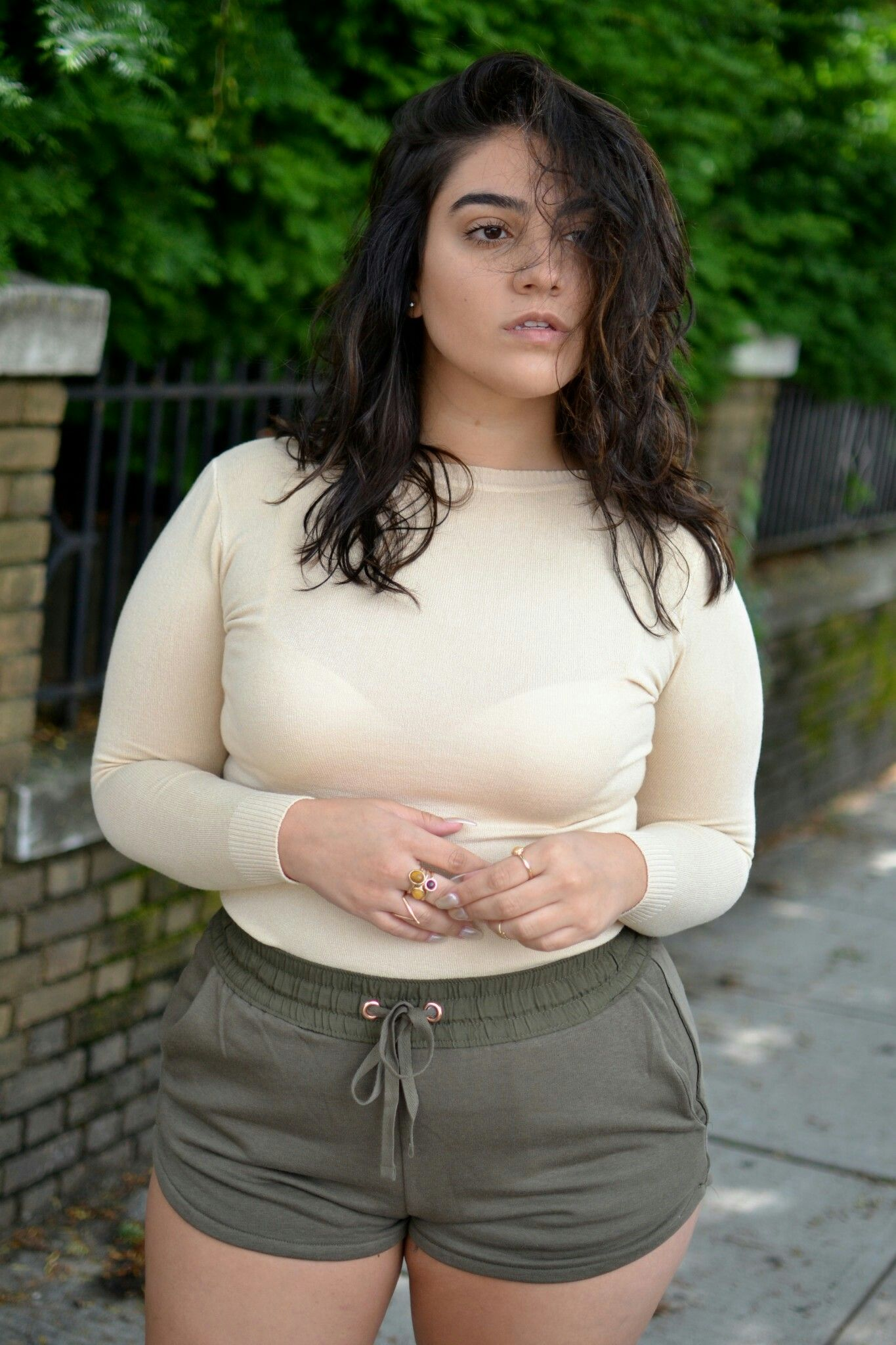 Pin By Regretting The Name On Nadia Aboulhosn Nadia Aboulhosn Curvy Shorts Curvy Fashion