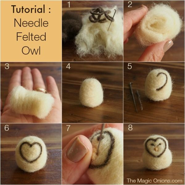 Needle Felted Owl Diy Tutorial It S Easy The Magic Onions Needle Felted Owl Needle Felting Diy Needle Felting Projects