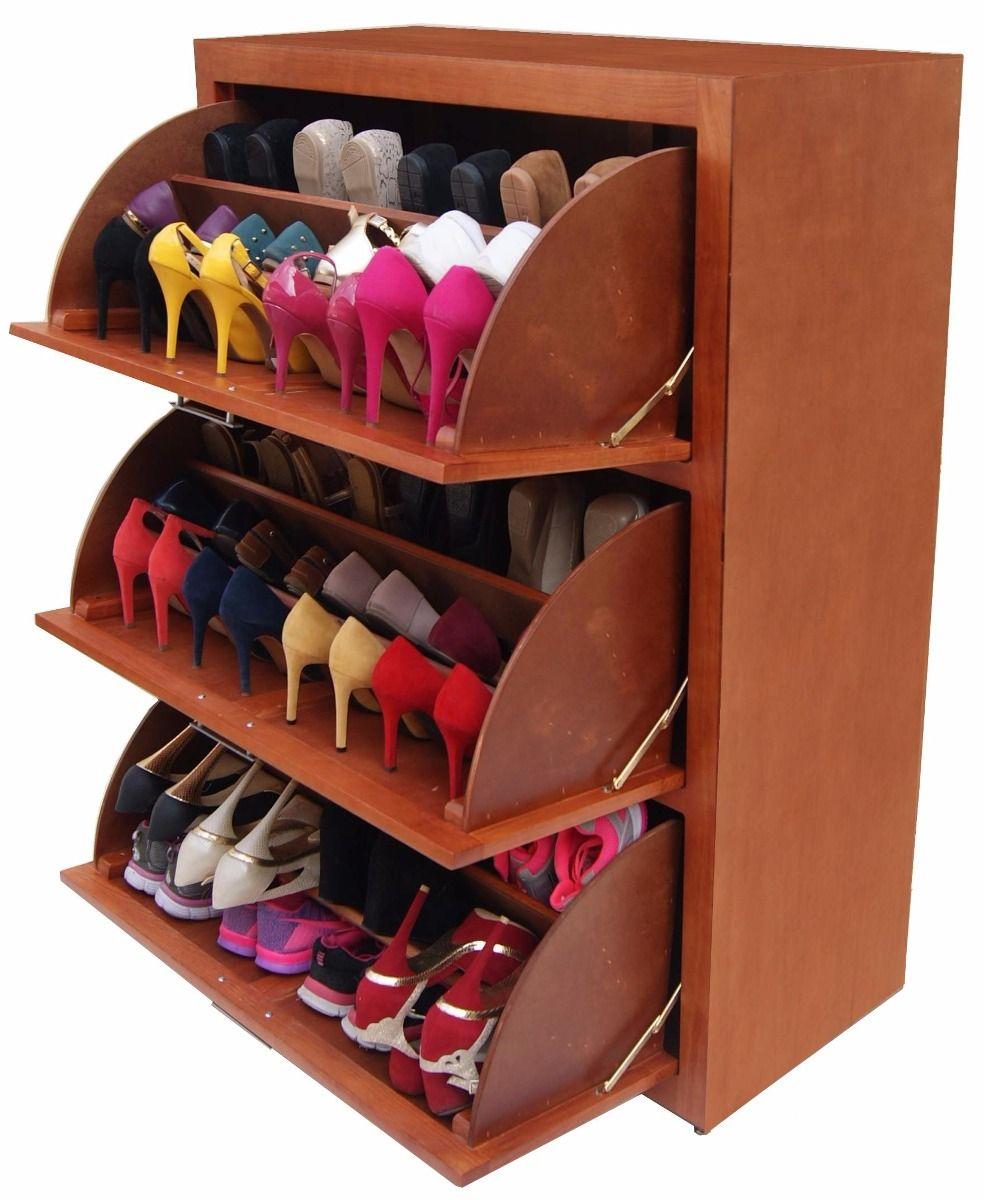 Zapatera levadiza 3 niveles mueble zapatero c moda for Gabinete de zapatos para la entrada