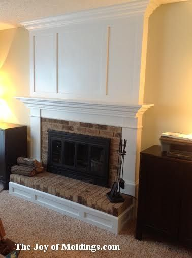 Tutorial - fireplace mantel built over a brick surround fireplace ...