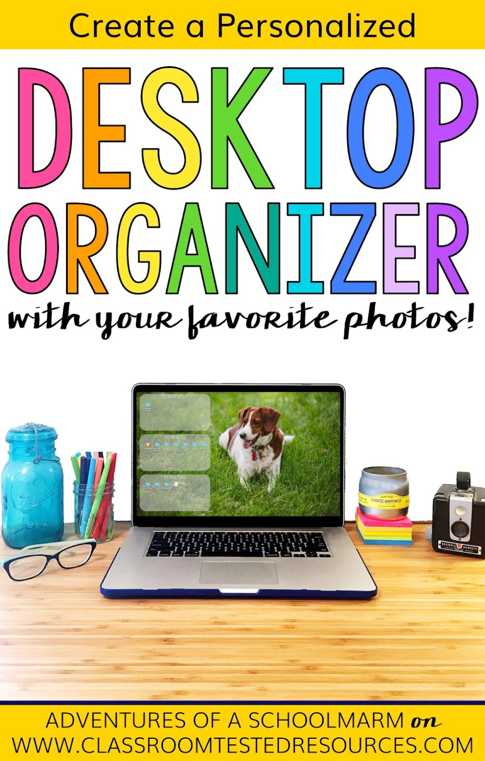 Learn how to make a personalized desktop organizer for
