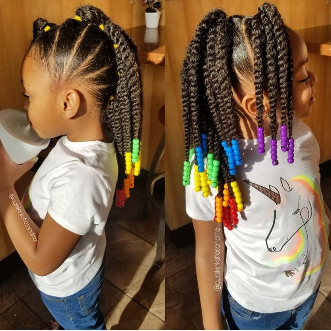 The Perfect Protective Style How Adorable Is This Braided Mohawk On Curlskinksfrosandme D In 2020 Kids Hairstyles Girls Kids Hairstyles Kids Braided Hairstyles