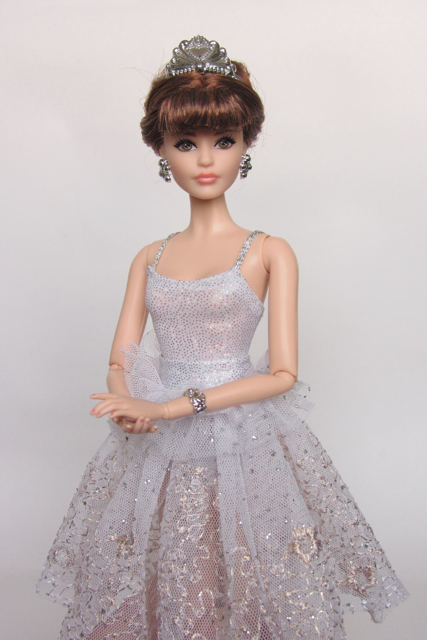 Handmade doll princess wedding dress for  1//6 doll party gown clothes HU