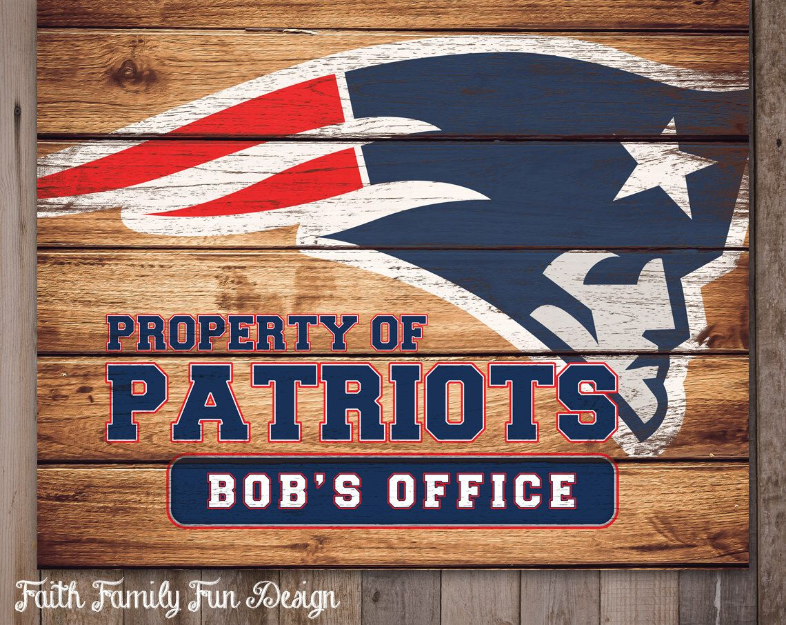 Personalized Man Cave Signs Etsy : Nfl new england patriots team sign printable. personalized! man cave