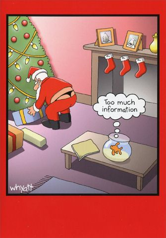 Too Much Information Box Of 12 Funny Humorous Christmas Cards By Nobleworks Funny Christmas Cartoons Humorous Christmas Cards Merry Christmas Funny