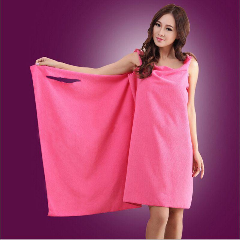 Hot Super Absorbent Microfiber Beach Wearable Body Wrap Spa Bath Towel Dress