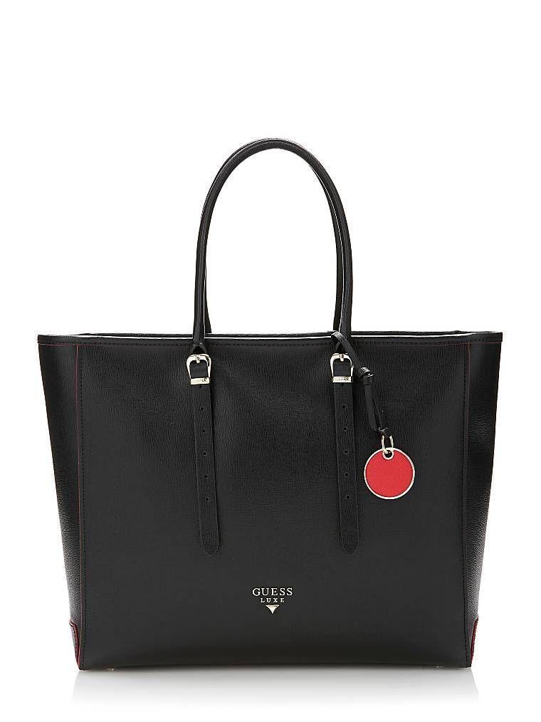 sac a main guess luxe cuir noir