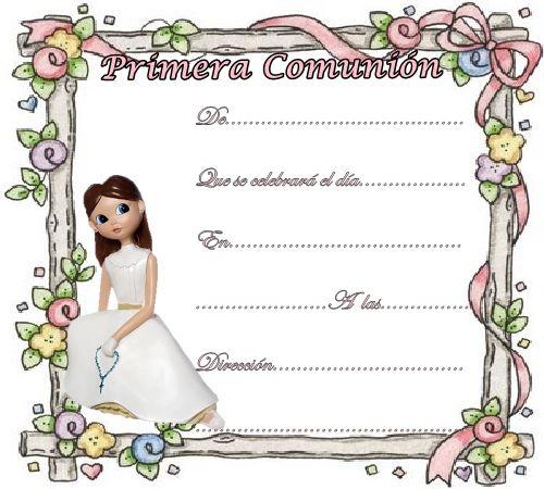Invitaciones de comunion para imprimir en casa gratis - Nocturnar ...