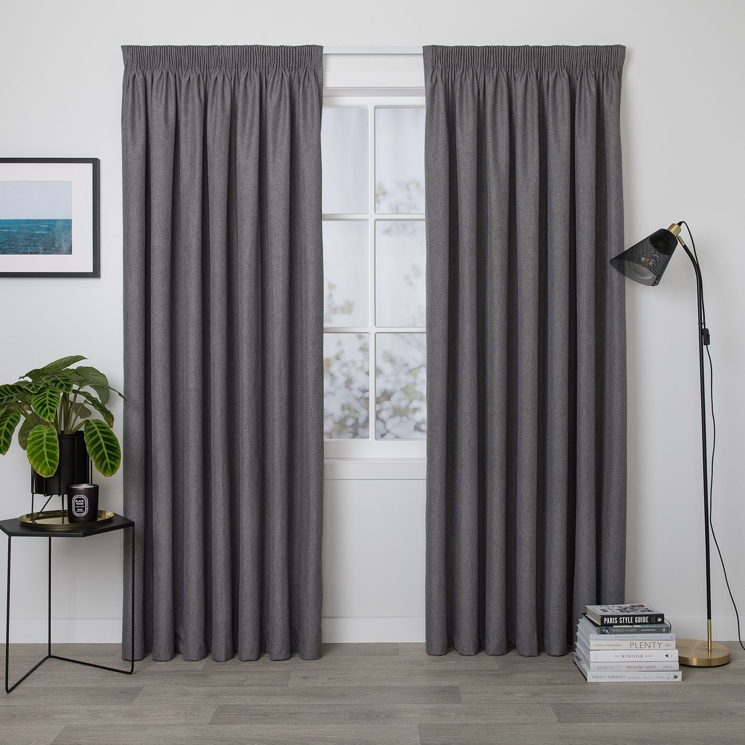 Preston Slate Readymade Blockout Pencil Pleat Curtain Curtain Studio Buy Curtains Online Curtains Pleated Curtains Velvet Curtains