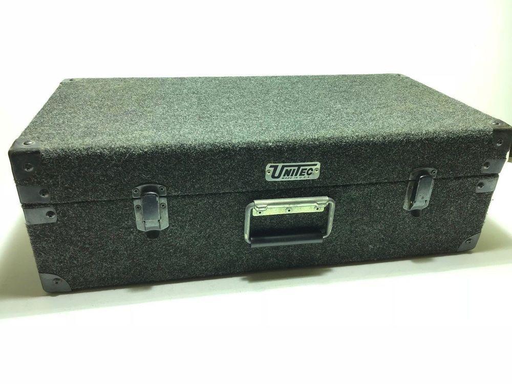 Unitech Vintage 3 Row Carpeted Storage Dj Case Holds 200 45rpm 45s 45 7 Unitec Hold On Storage Vintage