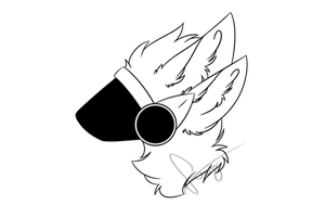 F2u Protogen Head Base Old By Loxythefoxy Cute Wolf Drawings Furry Drawing Furry Art