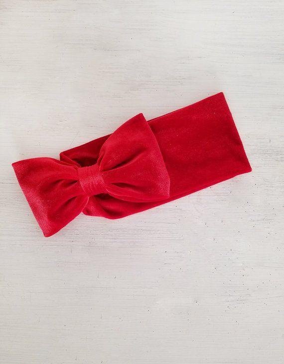 Red Velvet Valentine s Baby Bow Headband 3d6ccdeda65