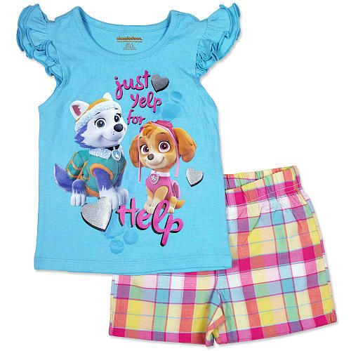 Nickelodeon PAW PATROL Toddler Girl Pajama Set 3 Piece Assorted Sizes BNWT