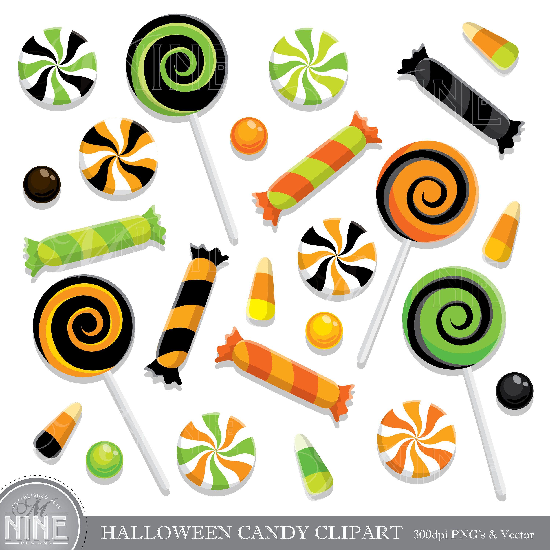 Halloween Candy Clip Art Halloween Candy Clipart Downloads Etsy Candy Clipart Scrapbook Clipart Clip Art