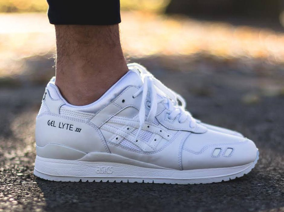 asics gel lyte 3 white leather