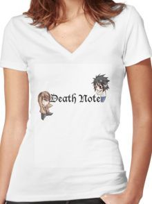 Deathnote Chibi Women's Fitted V-Neck T-Shirt
