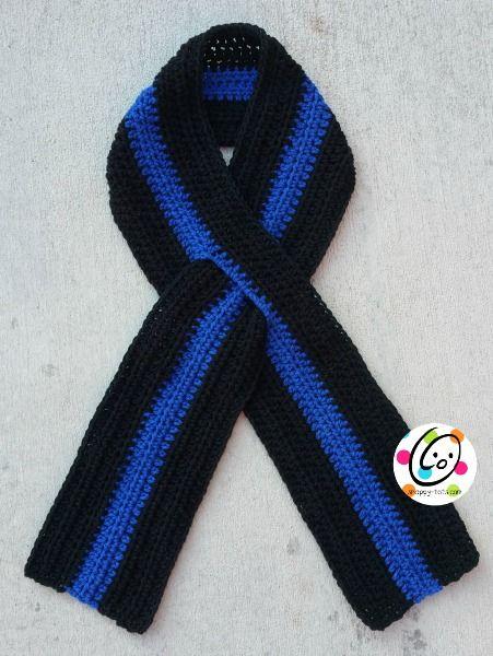 Pattern: Thin Blue Line Scarf | Schals, Anziehen und Schuhe