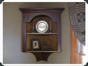 How To Make A Colonial Corner Cupboard