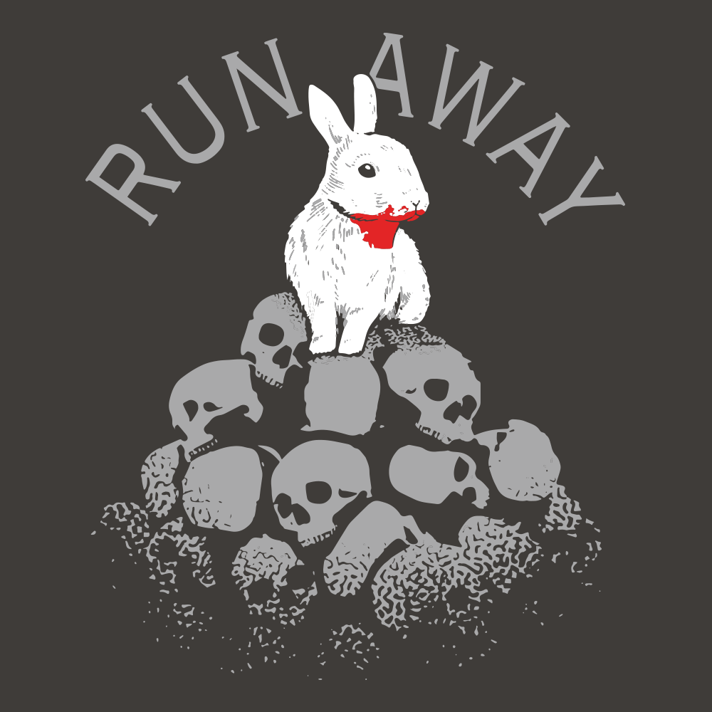 Killer Rabbit Holy Grail Run Away Monty Python T Shirt