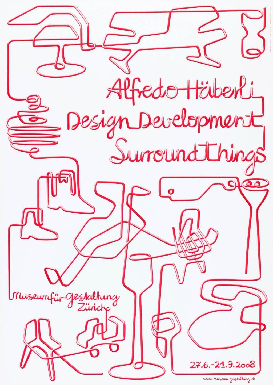Photo of Plakater Museum für Gestaltung: Alfredo Häberli – Designutvikling