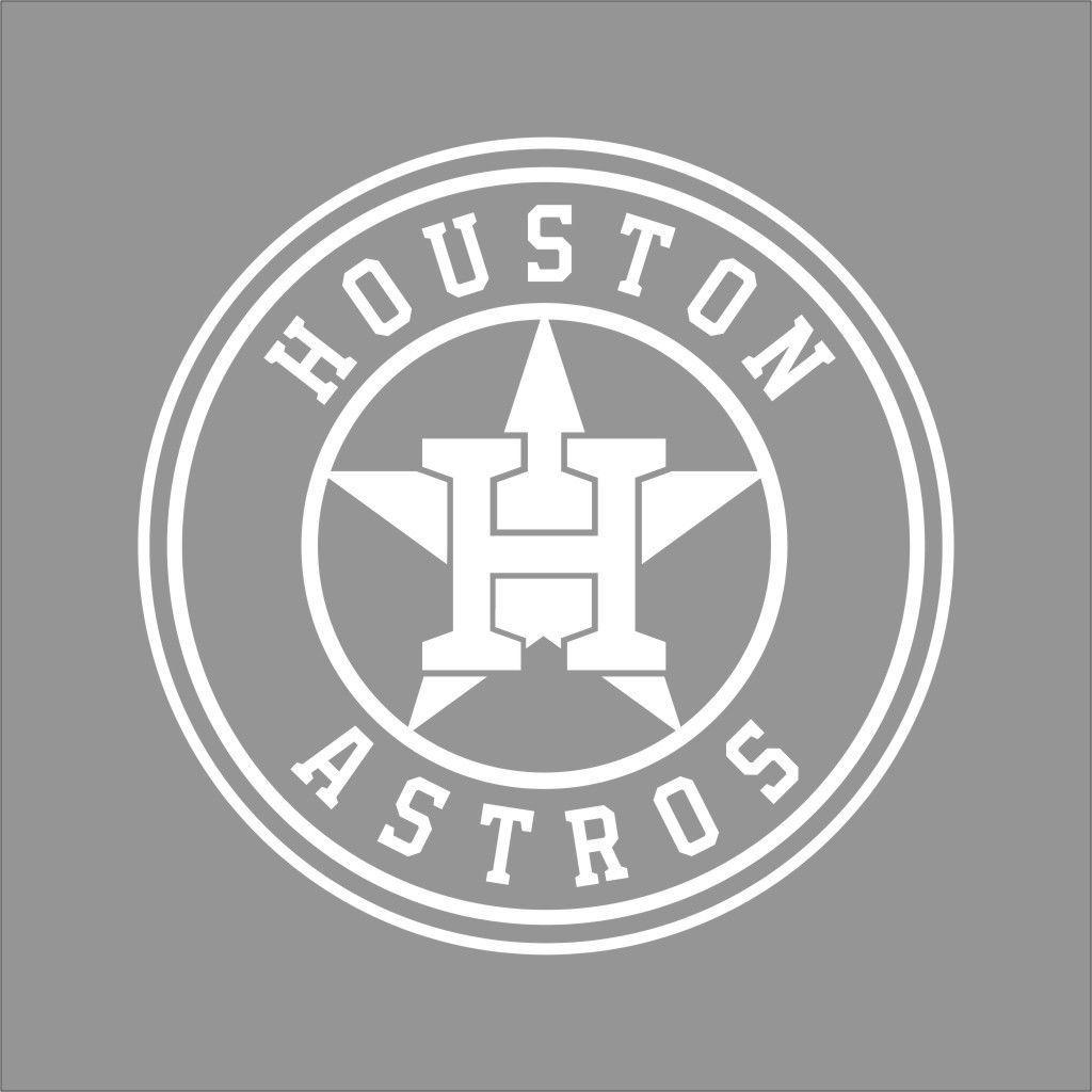 Houston astros mlb team logo 1 color vinyl decal sticker car window wall
