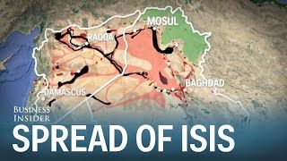 Spread of ISIS through Iraq and Syria