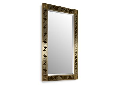 Shop for Chaddock Le Bijou Grec Mirror, MM1428-04, and other Living Room Mirrors at Chaddock in Morganton, NC. Brass Detailing with Bevel Mirror.
