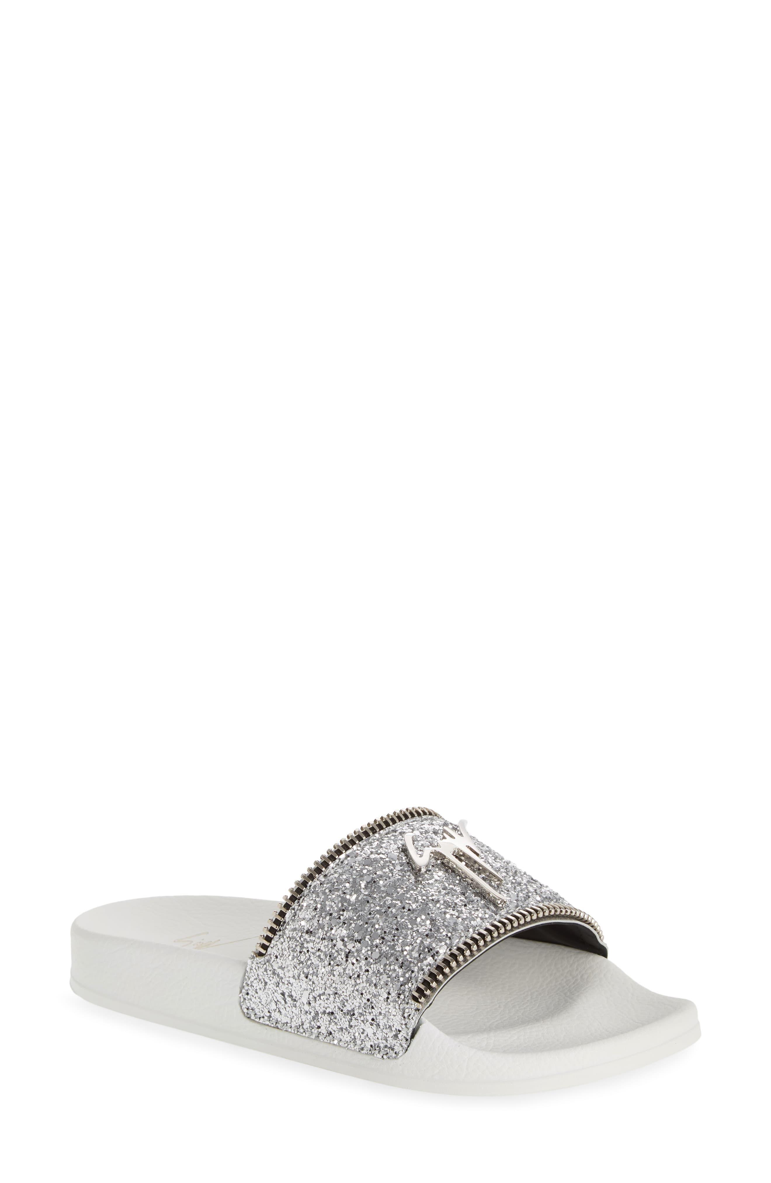 glitter sandals size 11