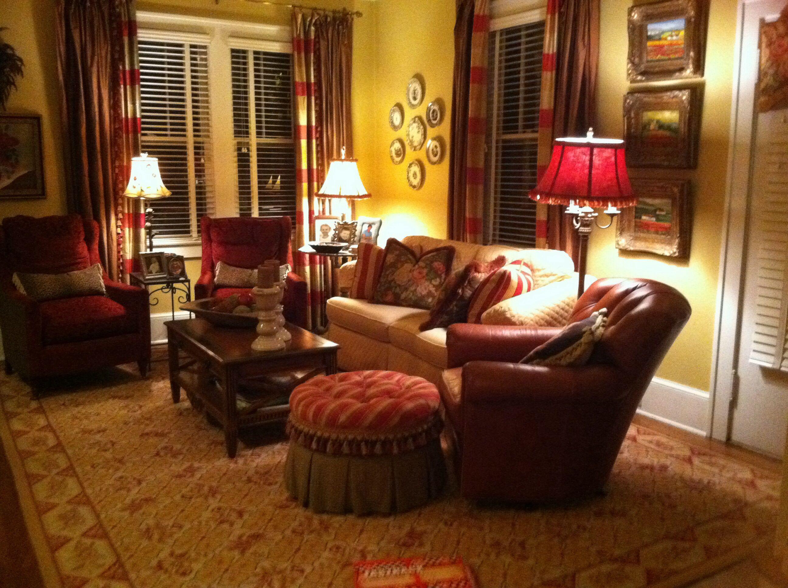 Log Home Decorating English Cottage Living Room Decor Pinterest