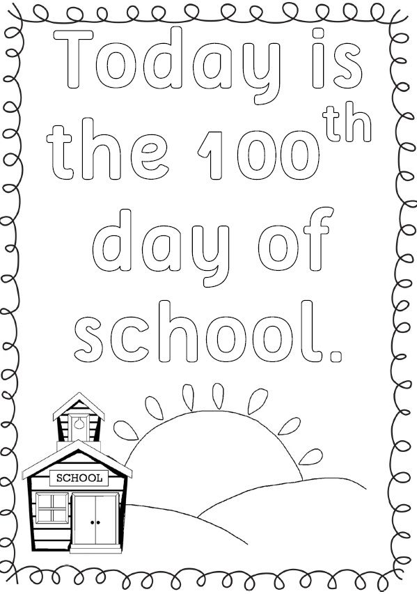 100th Day Of School Printables First And Second Grade Pinterest