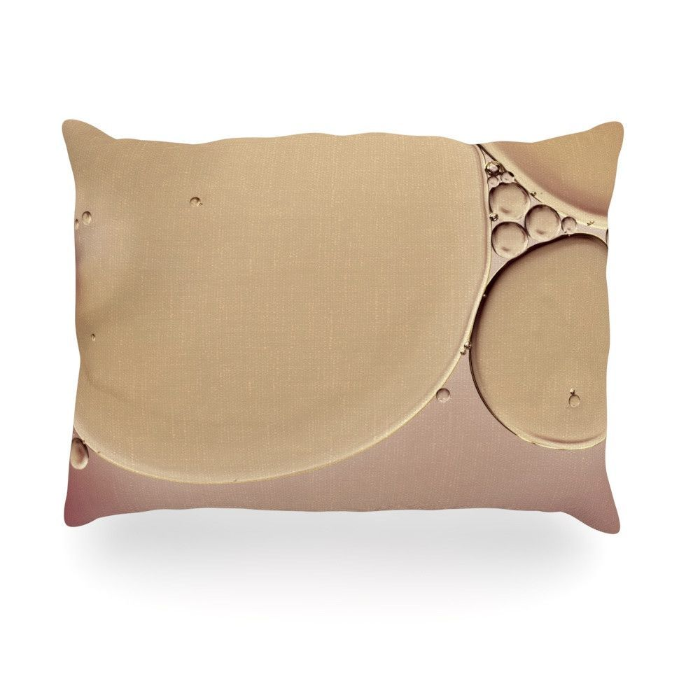 "Ingrid Beddoes ""A Touch of Pink"" Tan Oblong Pillow"