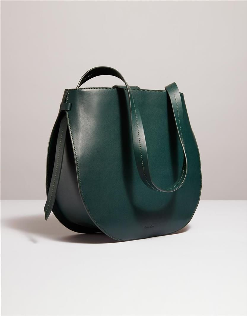 Helena Half Moon Shoulder Bag Ink Green Steven Alan