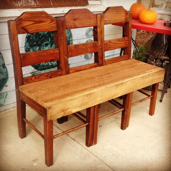 3 Boring Vintage Chairs Turned Bench It Looks Fabulous