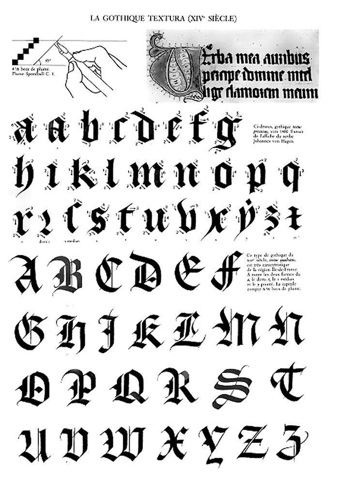 Souvent claude-mediavilla-calligraphie-gothique-texturaXIV | Typefaces  JK37