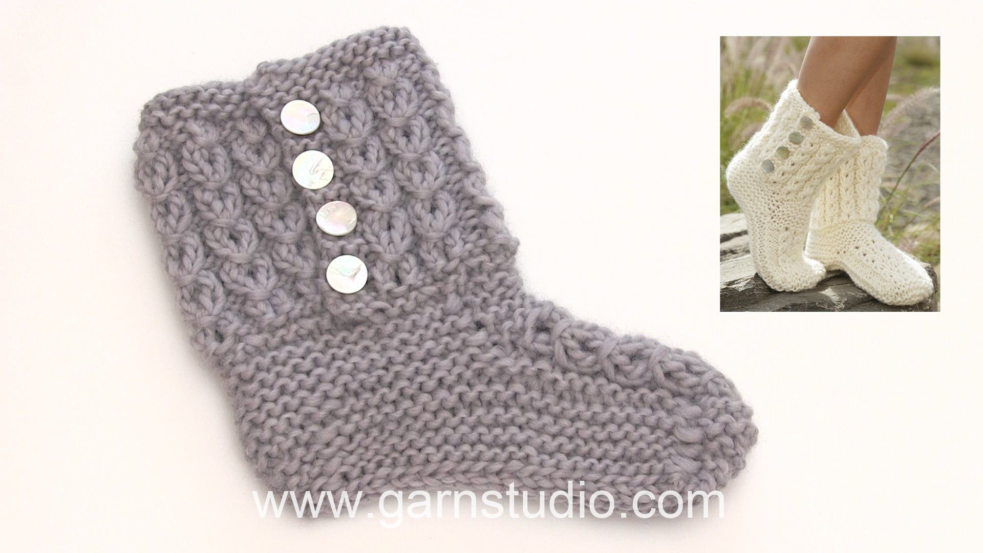 How to knit the slippers in DROPS 178-5 | Knitted stuff | Pinterest ...