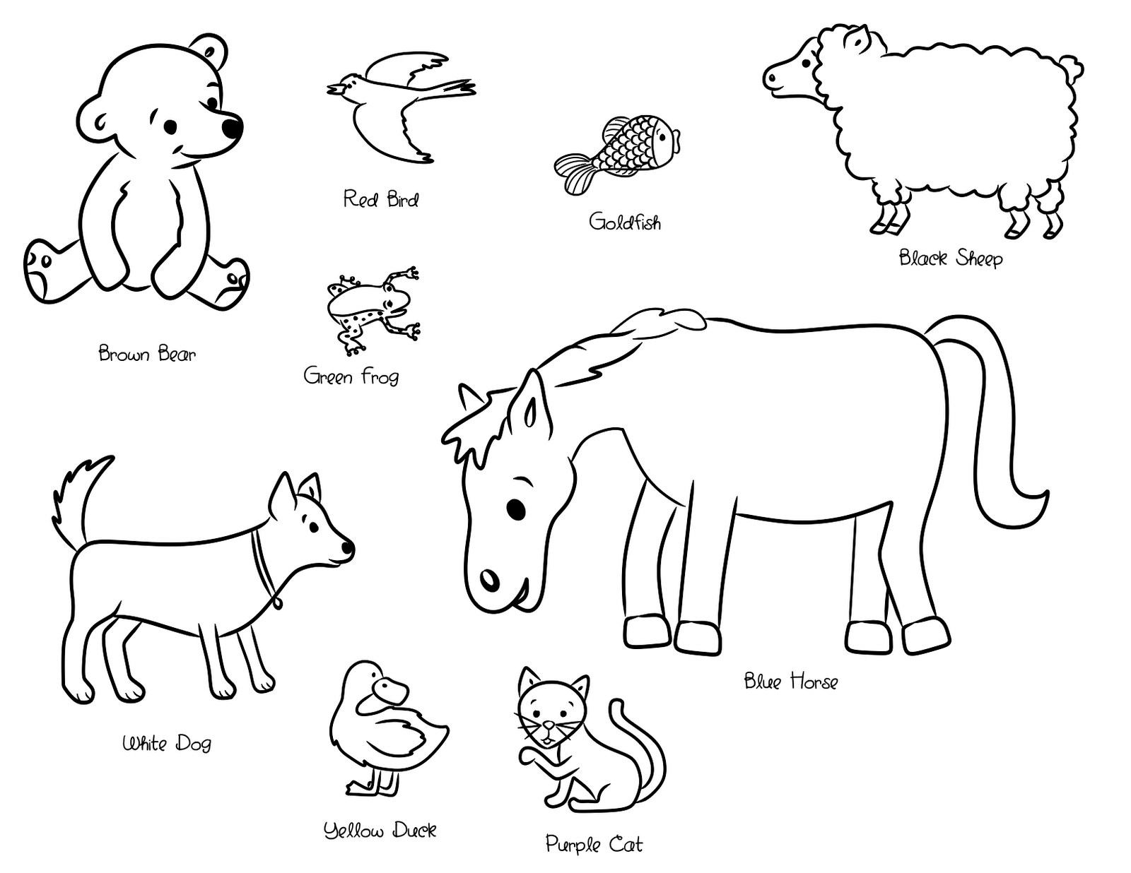 Coloring page: Brown Bear, Brown Bear, What Do You See? | Therapy on ...