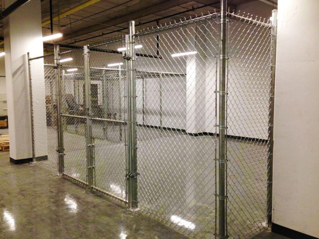 Chain Link Fence Interior Storage Chainlink