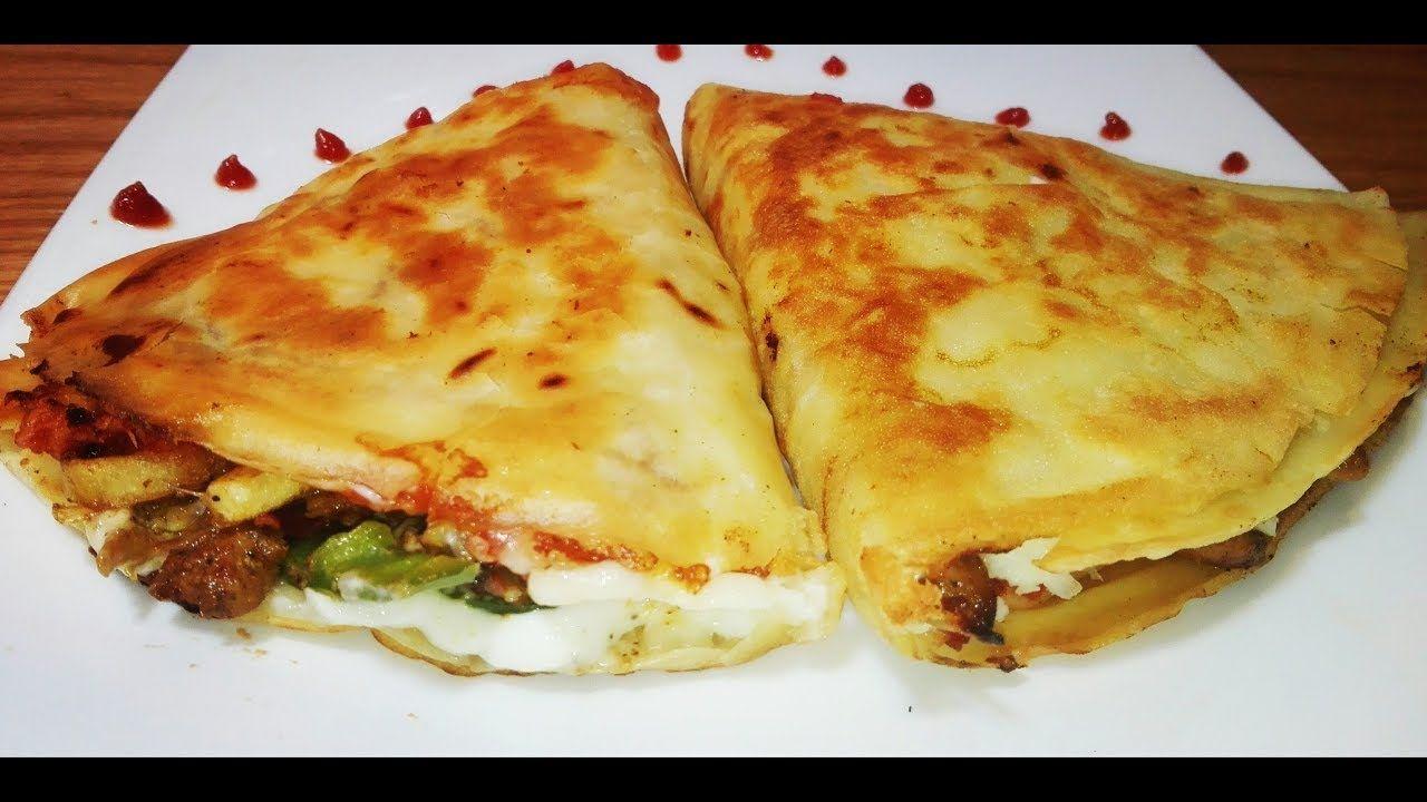 كريب الدجاج بطريقة المطاعم وتكات مهمة جدا للعجينة من مطبخ حلا Cooking Recipes Chicken Crepes
