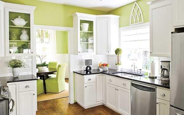 Cocina en verde manzana | Hogar | Pinterest | Verde, Cocinas y ...