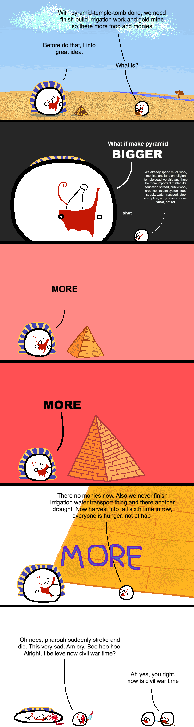 Countryball Ancient Egypt The Old Kingdom Some Jokes Ancient Egypt Country Humor