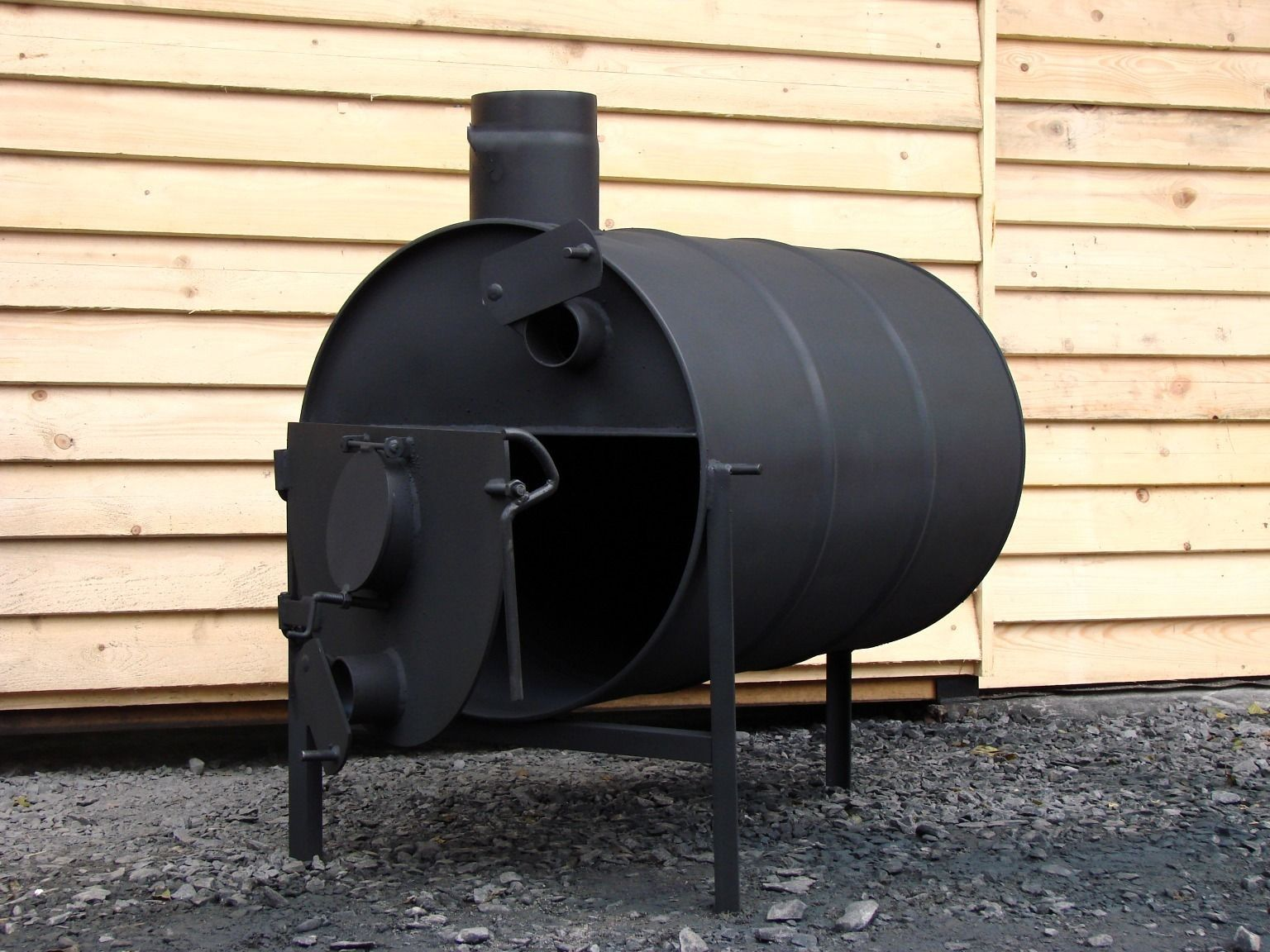 Grilling Wood Furnace Fire Homes Grill Party