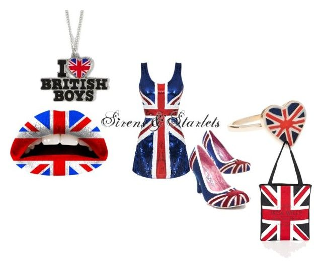 """Union Jack"" by cjanuary9755 ❤ liked on Polyvore featuring Violent Lips, Irregular Choice, Monsoon, claire's and Jack Wills"