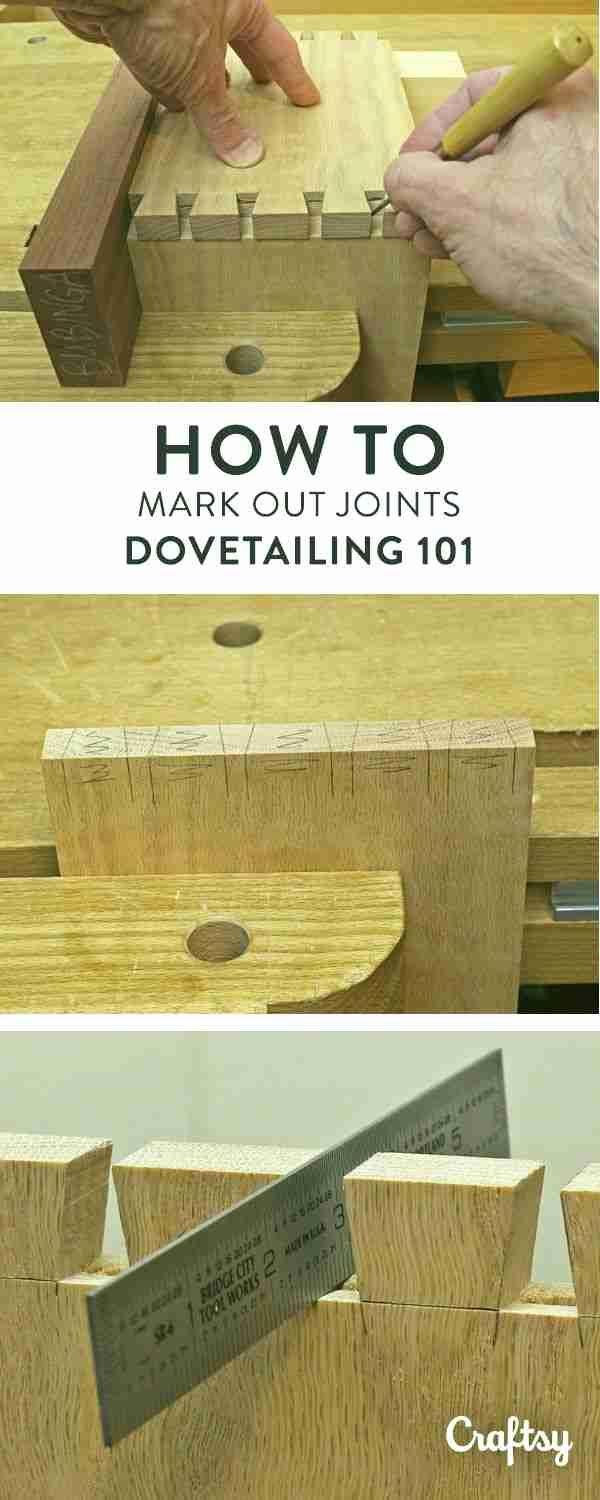Tails are used as a template to mark out the pins. Learn this critical step, which must be done accurately to have any hope of a well-fitting joint. #woodworkingtips