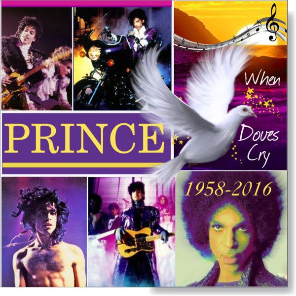 Prince RIP by calamity-jane-always on Polyvore featuring art, prince, artset and artexpression