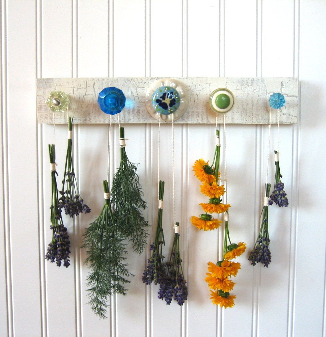 jewelry rack with green and blue deliciousnessaka herb etsy herb drying racks hanging herbs drying herbs pinterest