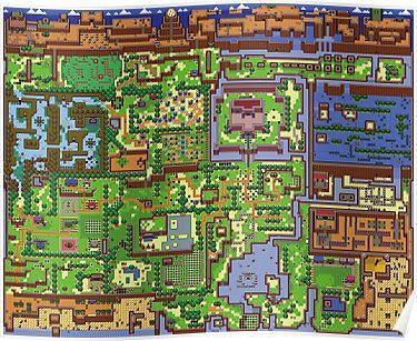 Legend Of Zelda Link S Awakening Map Poster Zelda Map