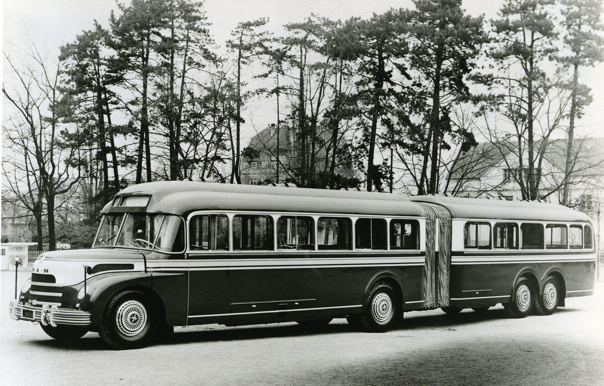 21 MAN Type MKN   Articuled bus Gelenkbus prototype ...