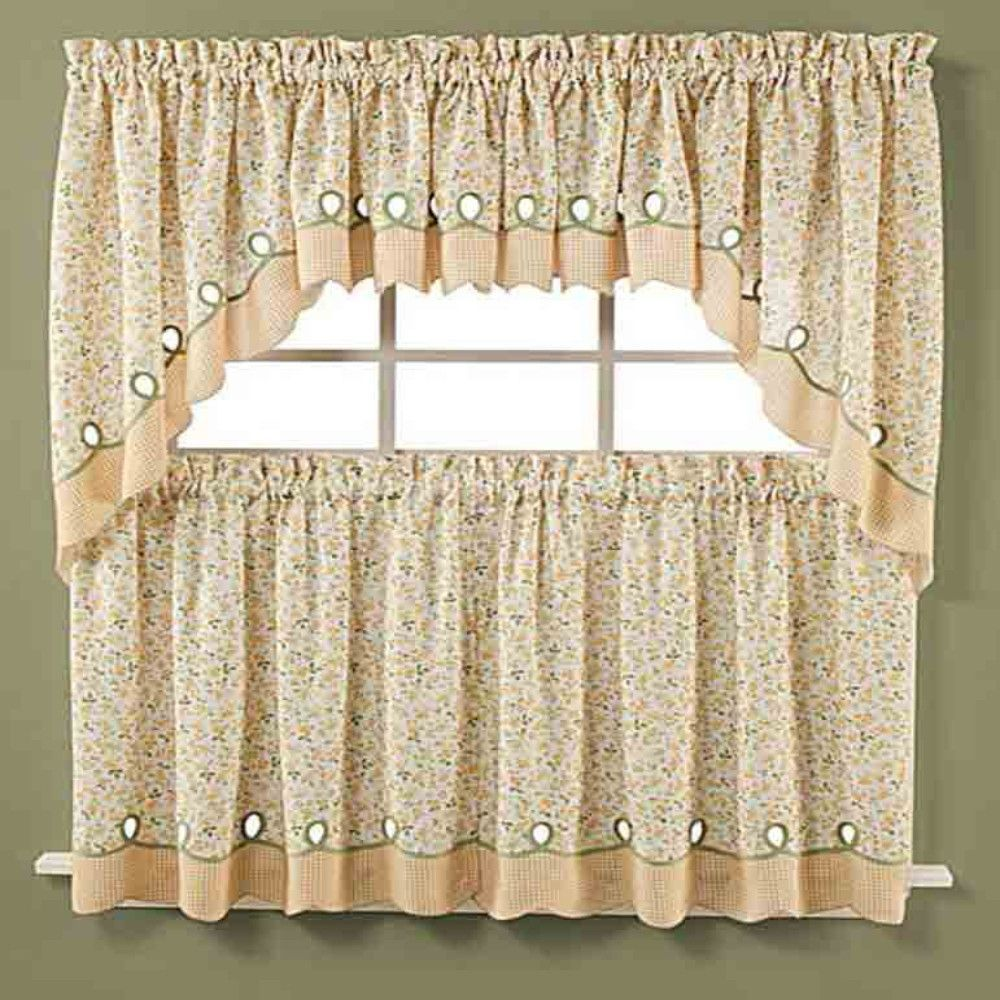 Superieur Ashley Floral Kitchen Tier U0026 Valance